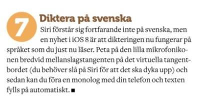 Diktera på svenska