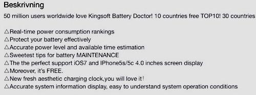 Beskrivning BatteryDoctor